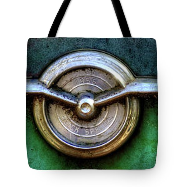 1956 Buick Special Emblem Tote Bag by Greg Mimbs