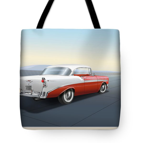 1956 Chevrolet Bel Air Tote Bag by Marty Garland