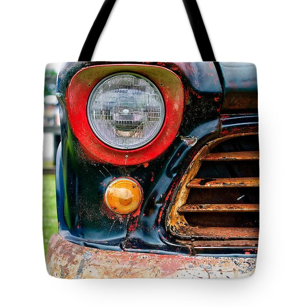 1956 Chevy 3200 Pickup Grill Detail Tote Bag