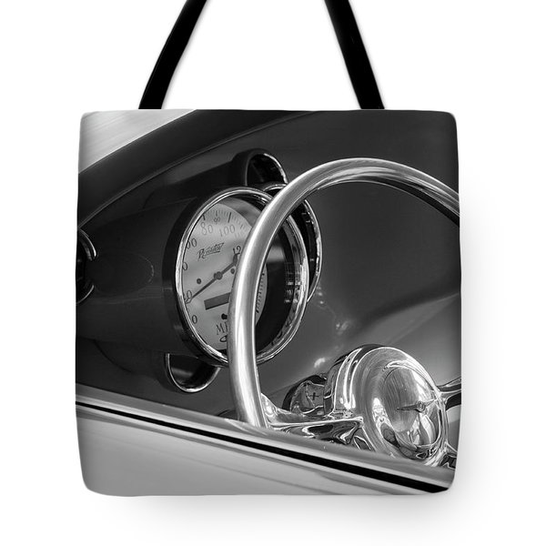 1956 Chrysler Hot Rod Steering Wheel Tote Bag by Jill Reger