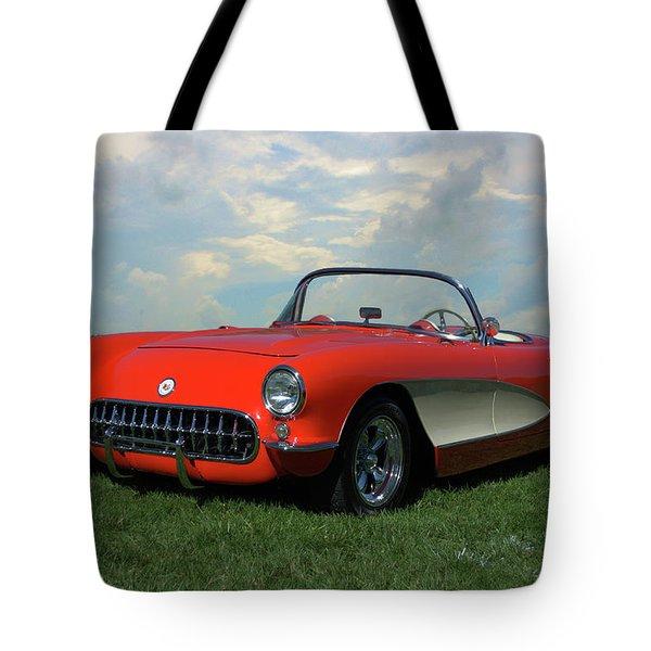 1956 Corvette Tote Bag