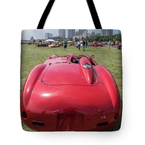 Tote Bag featuring the photograph 1956 Ferrari 290mm - 2 by Randy Scherkenbach