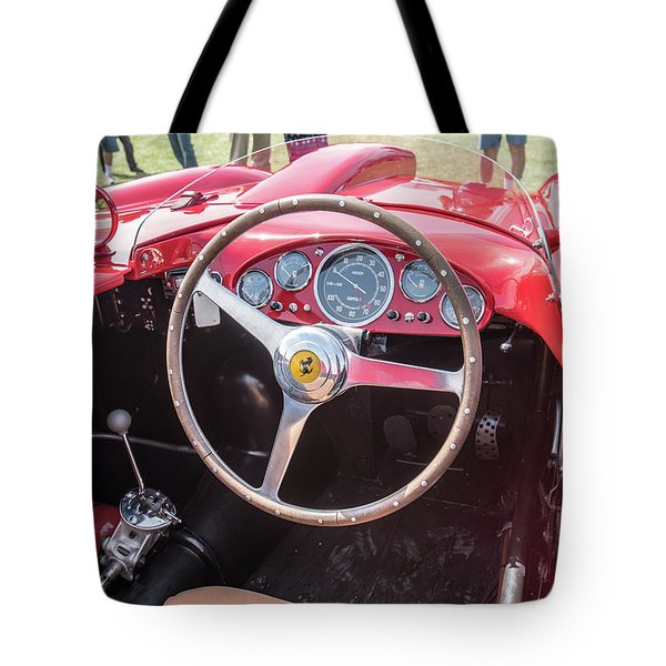 Tote Bag featuring the photograph 1956 Ferrari 290mm - 4 by Randy Scherkenbach
