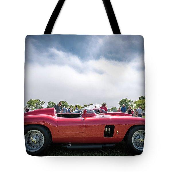 Tote Bag featuring the photograph 1956 Ferrari 290mm by Randy Scherkenbach