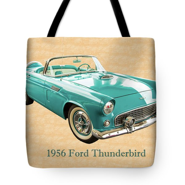 1956 Ford Thunderbird 5510.03 Tote Bag