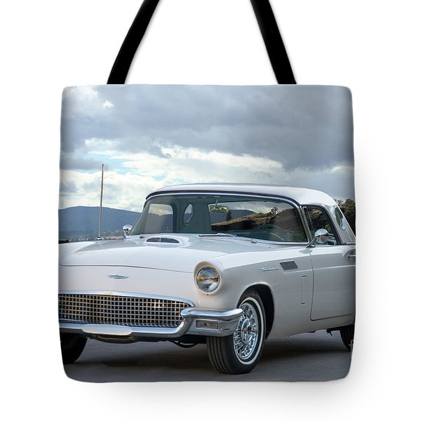 1956 Ford Thunderbird 'port Hole' Hardtop Tote Bag