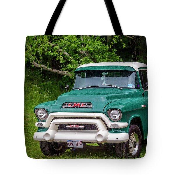 1956 Gmc Pickup Tote Bag by Ken Morris