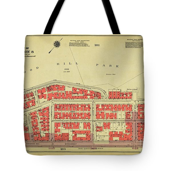 Tote Bag featuring the photograph 1956 Inwood Map  by Cole Thompson
