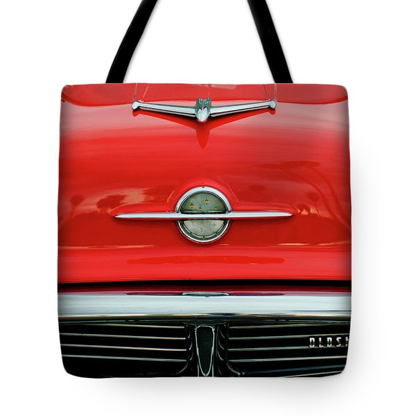 1956 Oldsmobile Hood Ornament 4 Tote Bag by Jill Reger