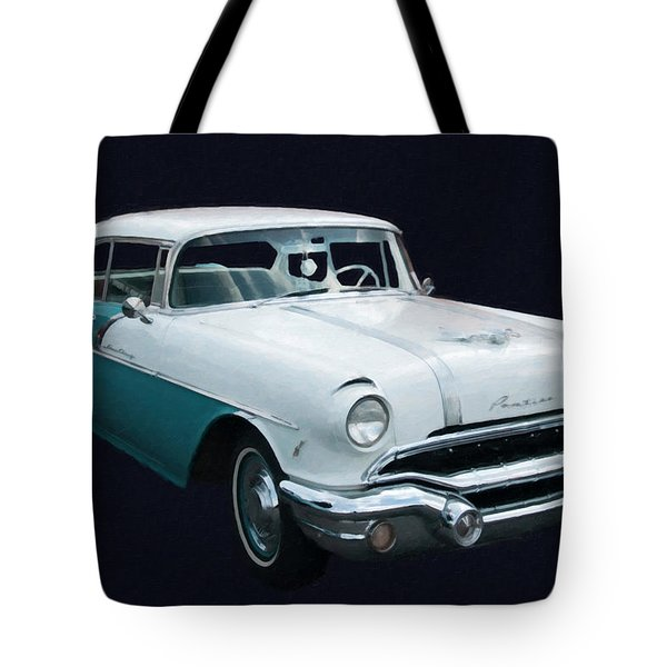1956 Pontiac Star Chief Digital Oil Tote Bag