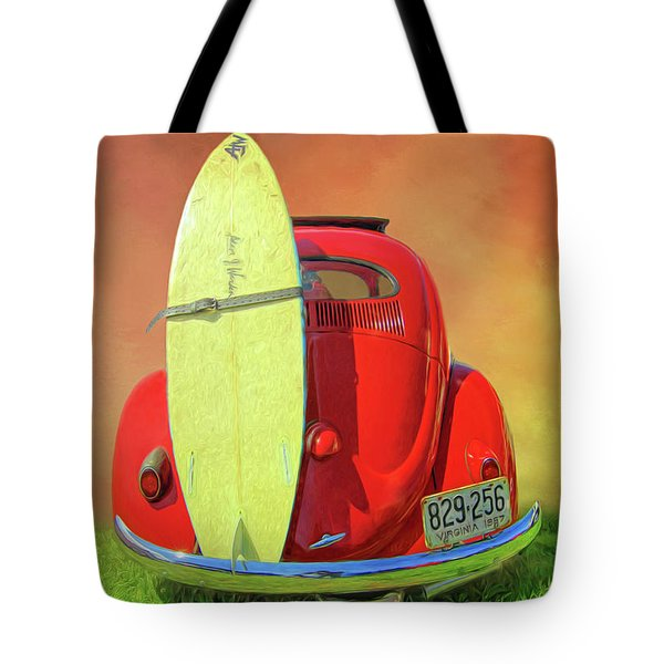 1957 Beetle Oval Tote Bag