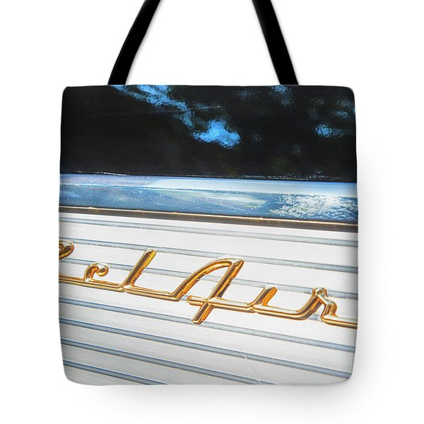 Tote Bag featuring the photograph 1957 Chevrolet Bel Air by Theresa Tahara