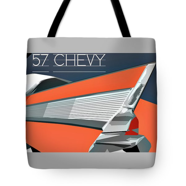 1957 Chevy Art Design By John Foster Dyess Tote Bag