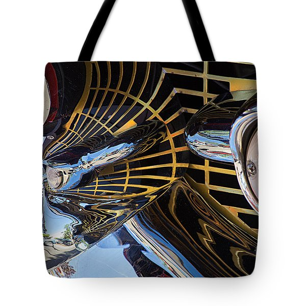 1957 Chevy Bel Air Grill Abstract 1 Tote Bag