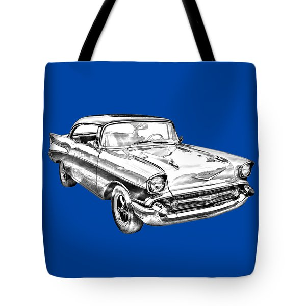 1957 Chevy Bel Air Illustration Tote Bag