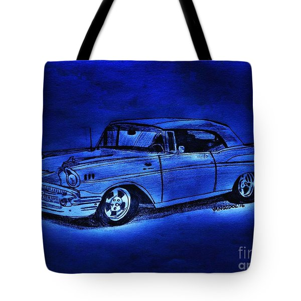 1957 Chevy Bel Air - Moonlight Cruisin  Tote Bag