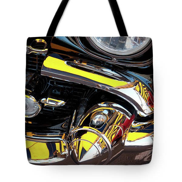 Tote Bag featuring the photograph 1957 Chevy by Roger Mullenhour