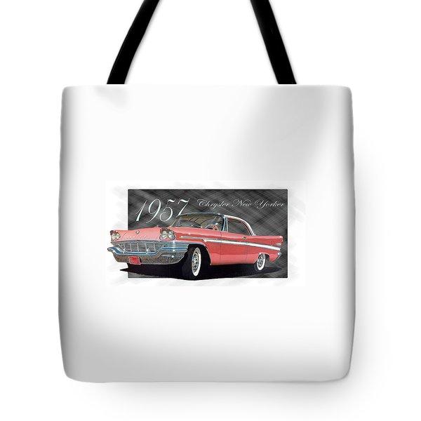 1957 Chrysler New Yorker Tote Bag