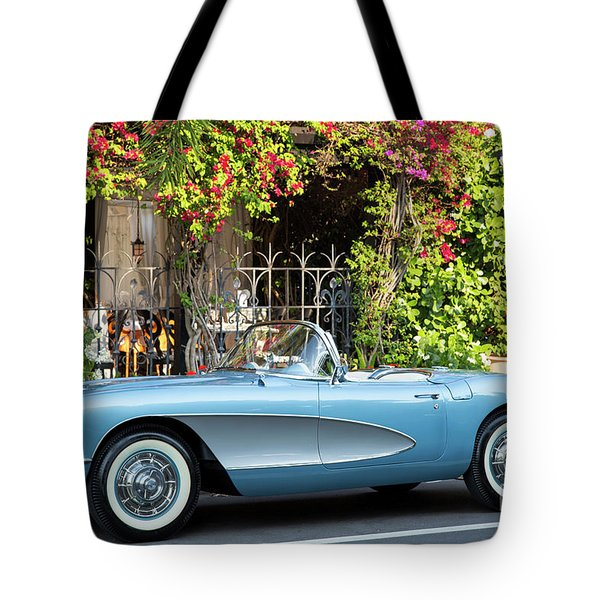 Tote Bag featuring the photograph 1957 Corvette by Brian Jannsen