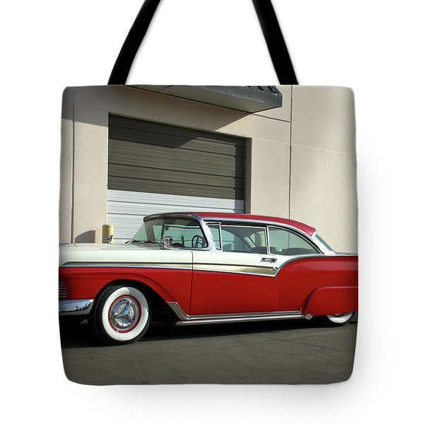 Tote Bag featuring the photograph 1957 Ford Fairlane Custom by Tim McCullough