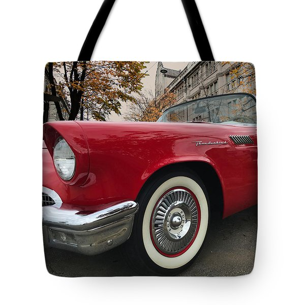 Tote Bag featuring the photograph 1957 Ford Thunderbird by Mark Guinn