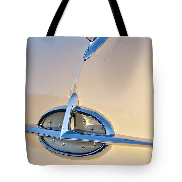 1957 Oldsmobile Hood Ornament 7 Tote Bag by Jill Reger