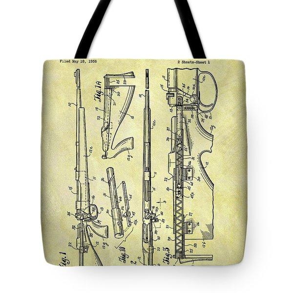 1957 Rifle Patent Tote Bag