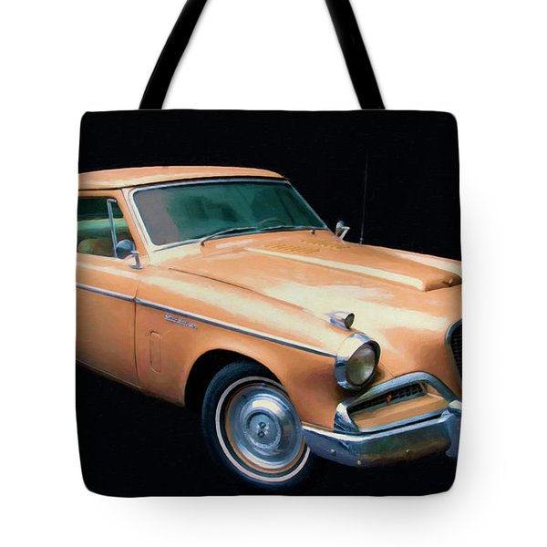1957 Studebaker Golden Hawk Digital Oil Tote Bag