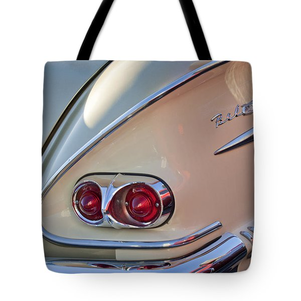 1958 Chevrolet Belair Taillight Tote Bag