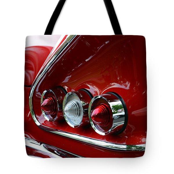 1958 Impala Tail Lights Tote Bag by Paul Ward