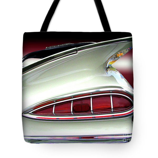 1959 Chevrolet Impala Tail Tote Bag by Peter Piatt