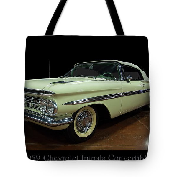 1959 Chevy Impala Convertible Tote Bag