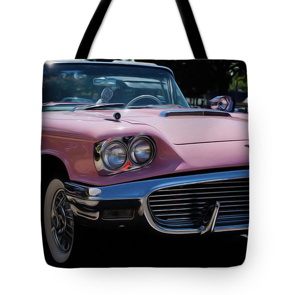 1959 Ford Thunderbird Convertible Tote Bag by Joann Copeland-Paul