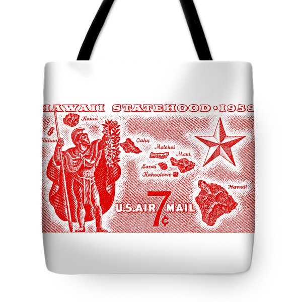 1959 Hawaiian Statehood Stamp Tote Bag
