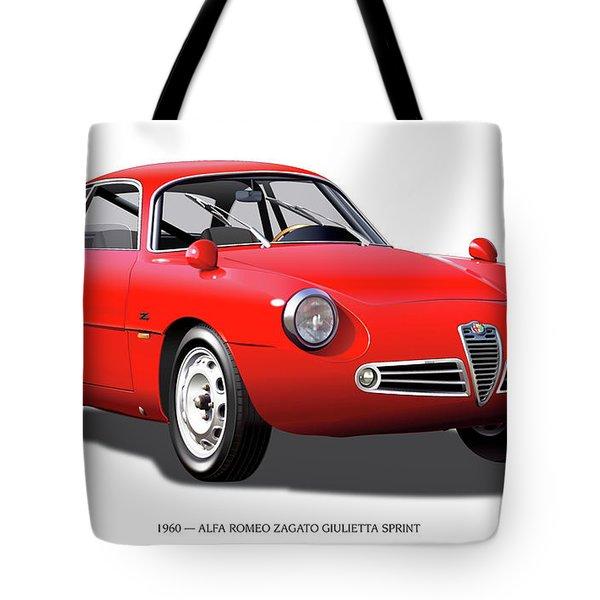 1960 Alfa Romeo Zagato Giulietta Sprint Tote Bag by Alain Jamar