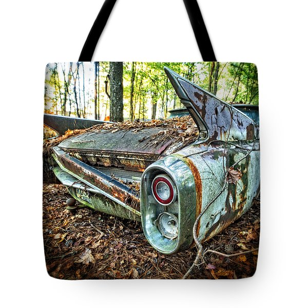 1960 Cadillac At Rest Tote Bag
