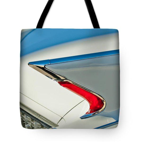 1960 Cadillac Eldorado Biarritz Convertible Taillight Tote Bag by Jill Reger