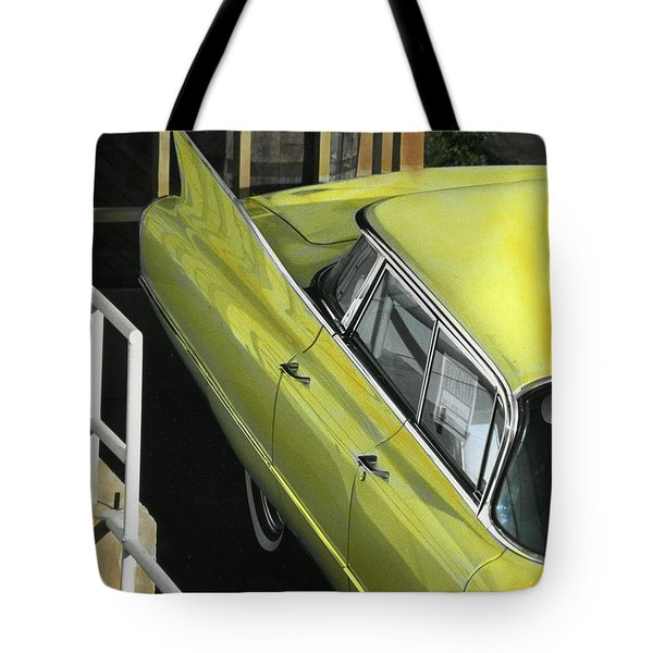 Tote Bag featuring the photograph 1960 Cadillac by Jim Mathis