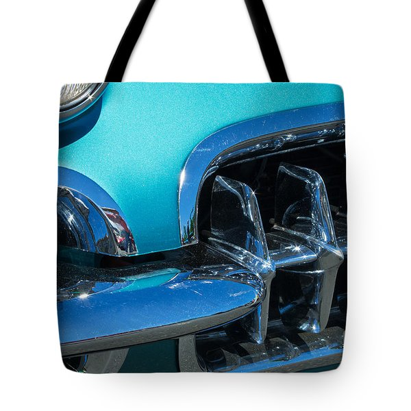 1960 Chevy Corvette Headlight And Grill Abstract Tote Bag