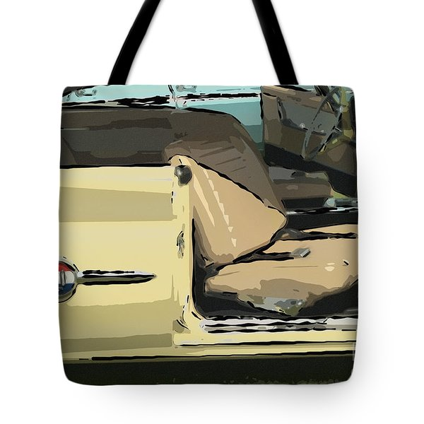 Tote Bag featuring the photograph 1960 Chrysler 300-f  Muscle Car by David Zanzinger