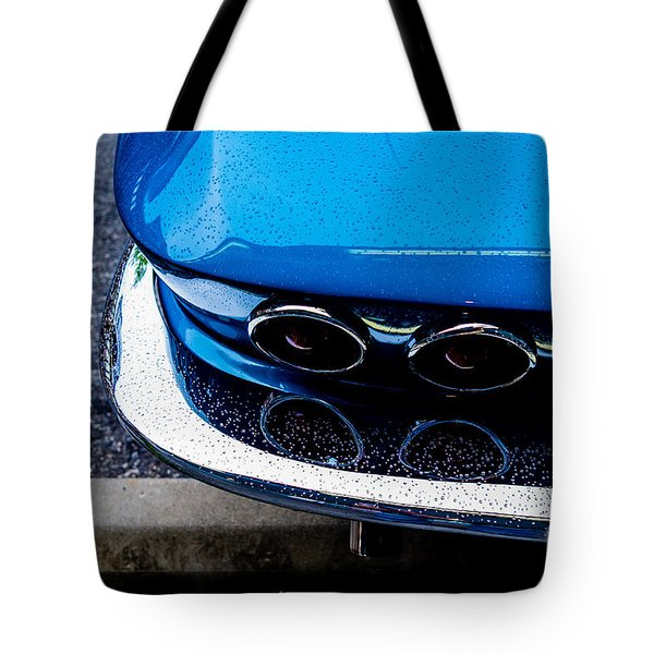 Tote Bag featuring the photograph 1965 Corvette Sting Ray by M G Whittingham
