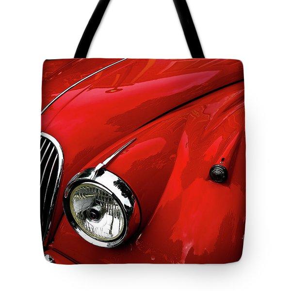 Red Jaguar Tote Bag