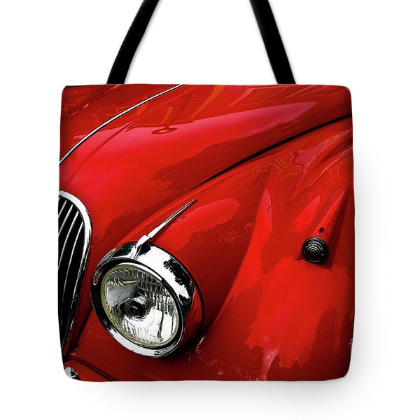 Red Jaguar Tote Bag