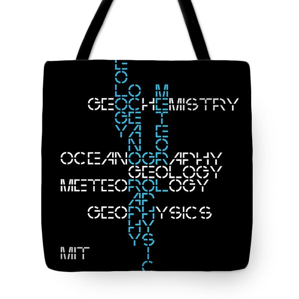 Tote Bag featuring the mixed media 1960s M. I. T. Graduate Study Programs by Daniel Hagerman
