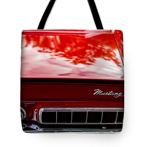 Tote Bag featuring the photograph 1967 Mustang by M G Whittingham