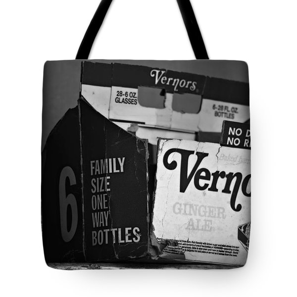 1960's Vernors Box. No Deposit, No Rerurn  Tote Bag by Sandra Church
