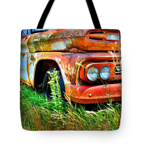 Tote Bag featuring the photograph 1961 Chevrolet Apache 10 5 by Lisa Wooten