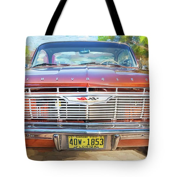 Tote Bag featuring the photograph 1961 Chevrolet Impala Ss  by Rich Franco
