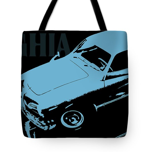 1962 Karmann Ghia Pop Art Blue Tote Bag