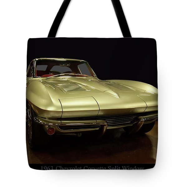 Tote Bag featuring the photograph 1963 Chevrolet Corvette Split Window by Chris Flees